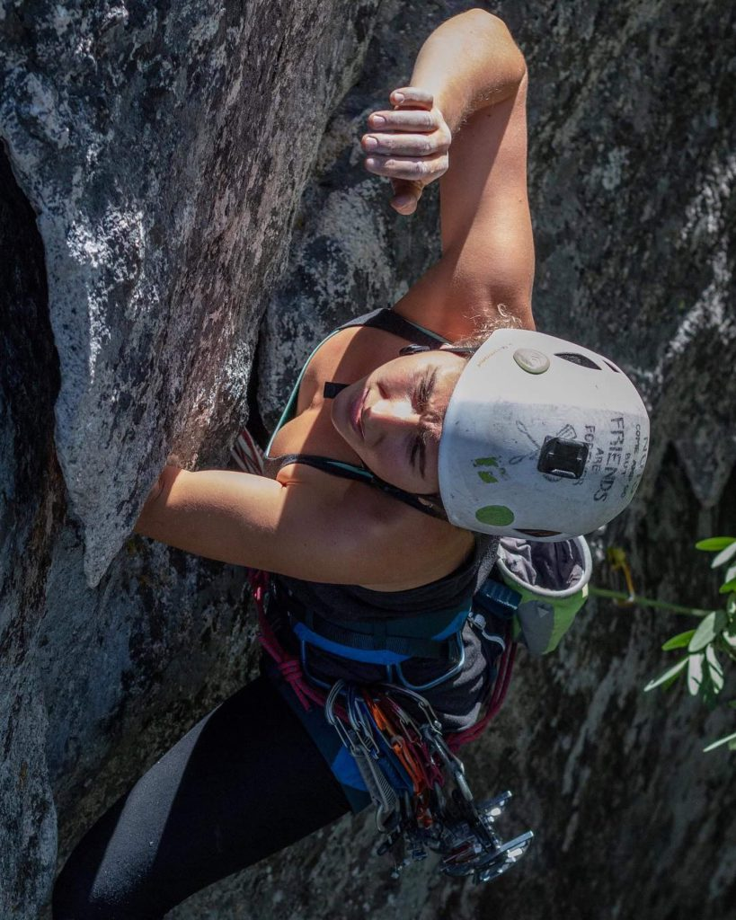 Kaya Lindsay climbing in Yosemite National Park
