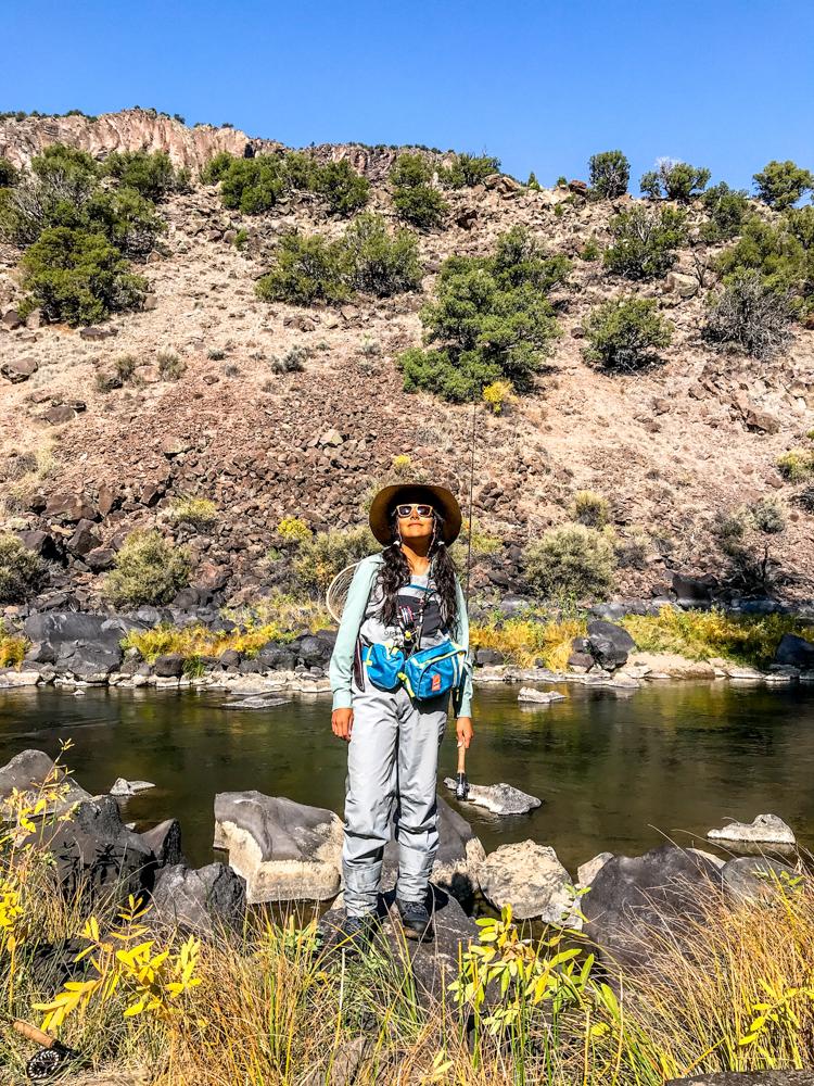 Gabaccia-Moreno-woman-flyfishing-New-Mexico-Pueblo-Land-Photo-Roberto-Flores-Buck