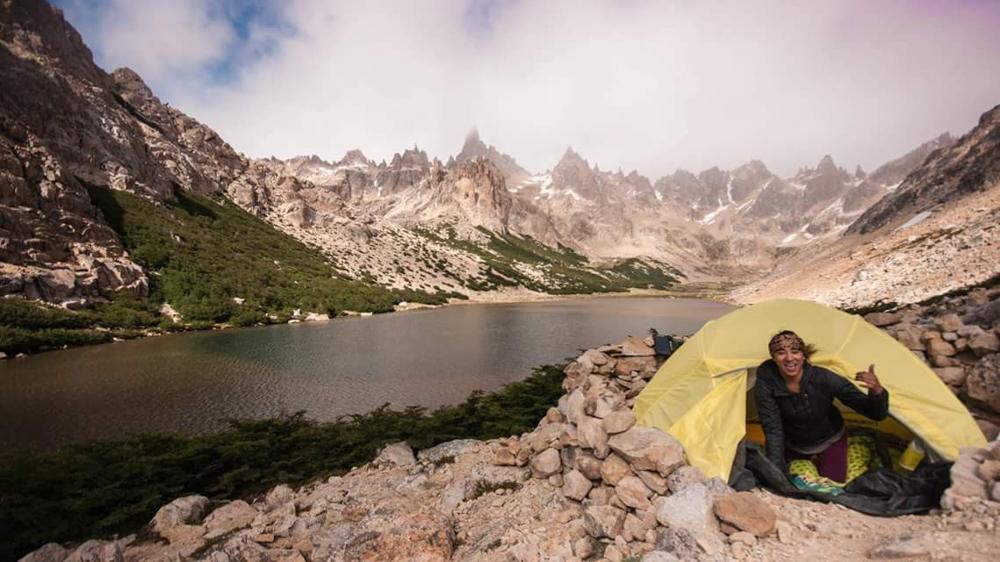 Dani Reyes-Acosta-Latina-AAPI-camping-learns-new-outdoor-skills